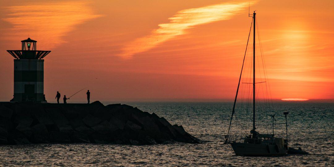 Flottielje zeilen Noordzee